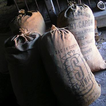 photo de sacs de grain