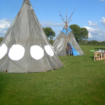 fabrication d'un tipi