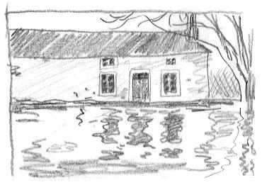 la maison près de l'étang image gratuite libre de droit