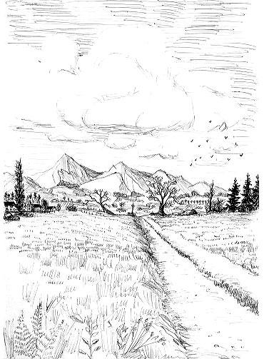paysage montagne image libre de droits