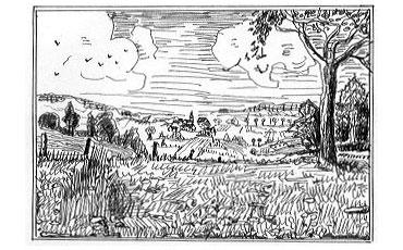 paysage village image libre de droit