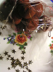 truffes sur la table de noel